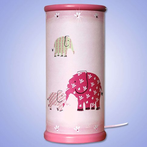 Magical Magenta Elephant Led Table Lamp