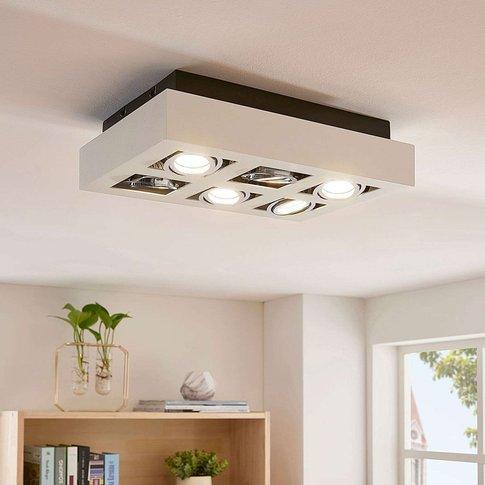 6-Bulbs, White Led Ceiling Light Vince