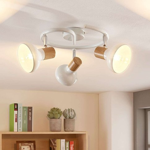 Metal Ceiling Light Fridolin In White