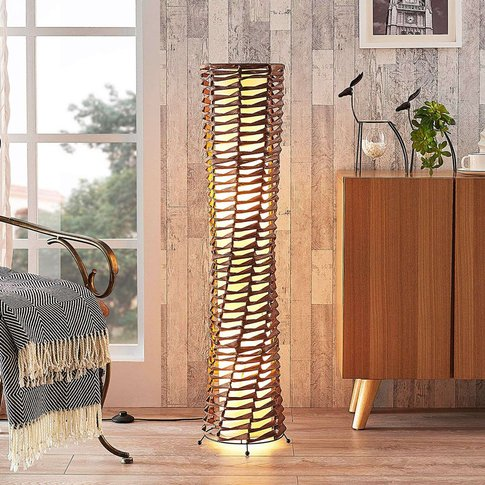 Decorative Living Room Floor Lamp Joas In Brown