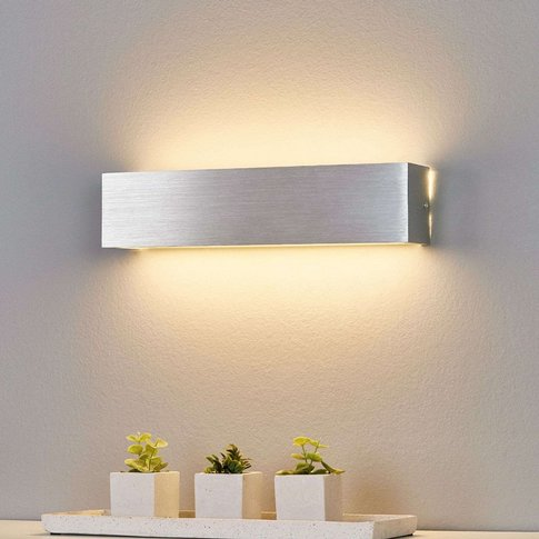 Aluminium-Coloured Led Wall Light Ranik