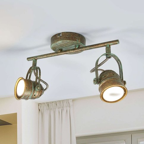 Two-Bulb Led Spotlight Leonor In Antique Look