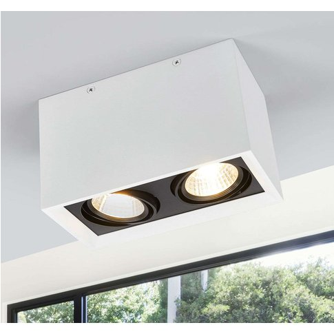 Two-Bulb Led Ceiling Lamp Loreen In White