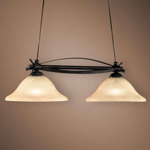 Dana Beam Pendant Light Country House Two Bulbs