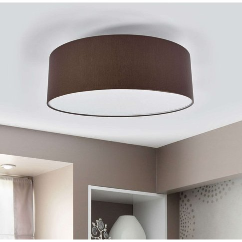Led Ceiling Light Gala, 50 Cm, Taupe Chintz Shade