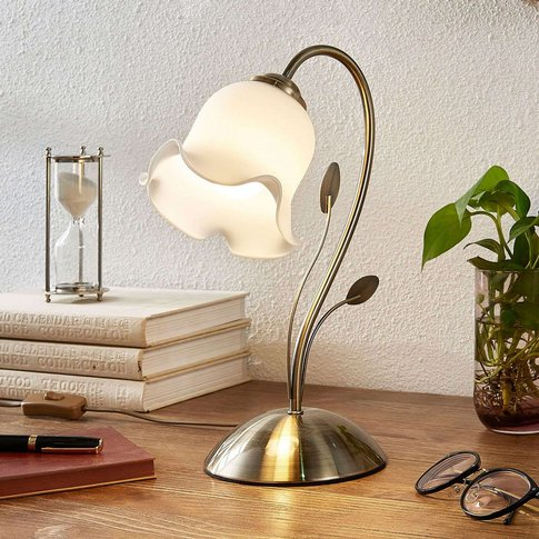 Table Lamp Matea With A Floral Design