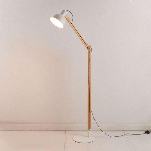 Shivanja floor lamp made of wood/metal