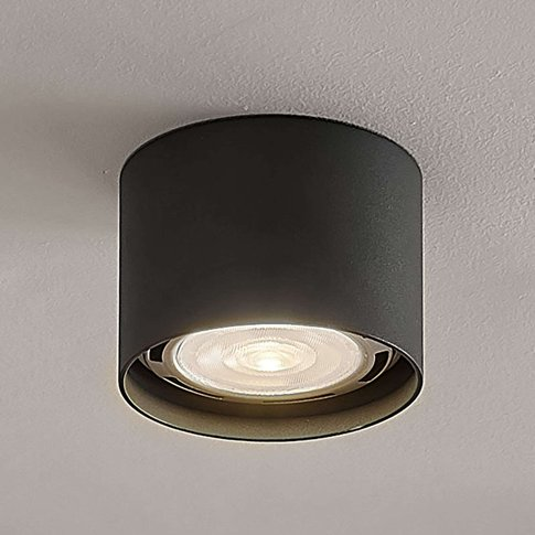 Round Led Ceiling Spotlight Mabel, Dark Grey