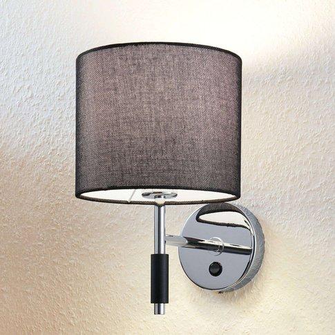 Franjo Fabric Wall Lamp In Black