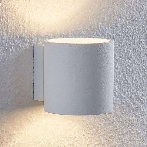 Lindby Mirza Aluminium Wall Light, Round, White