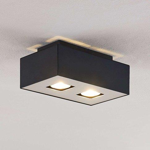 Lindby Kasi Ceiling Light, Two-Bulb, 24 X 14 Cm