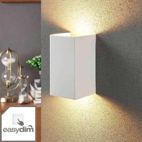2-Bulb Led Wall Light Jaymie, Dimmable Via Switch