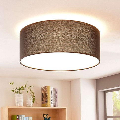 Lukas Black Fabric Ceiling Light With Leds