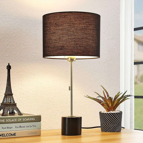 Lindby Josias Fabric Table Lamp In Black