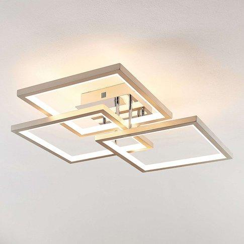Lucande Avilara Led Ceiling Light, 70 Cm X 70 Cm