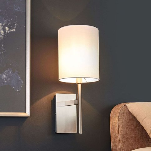 Fabric Wall Lamp Judit With White Lampshade