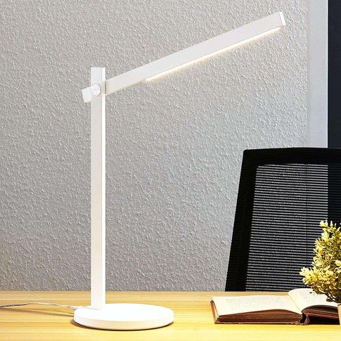 Loretta Led Desk Lamp, Linear, White