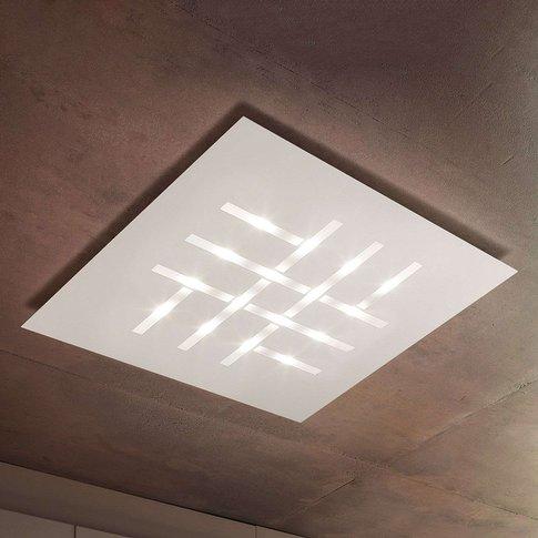 Pattern - Square Led Ceiling Lamp, White