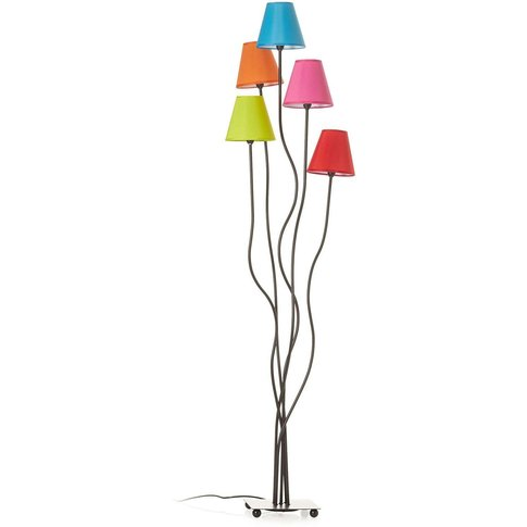 Colori Fabric Floor Lamp 5-Bulb Colourful
