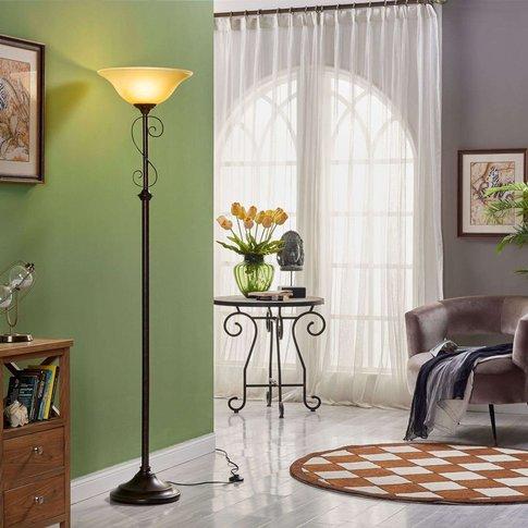 Floor Lamp Svera, Country House Style, Rust Finish