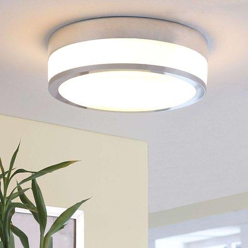 Ceiling Light Flavi For Bathroom, E27 Led Chrome