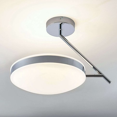 Led Ceiling Lamp Niklas With A Chrome Ring