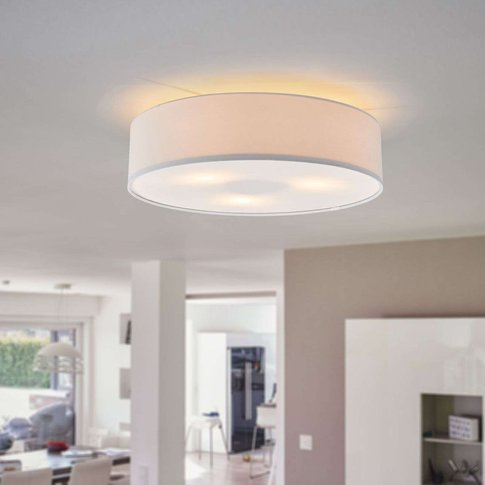 Fabric-Covered Ceiling Light Risa