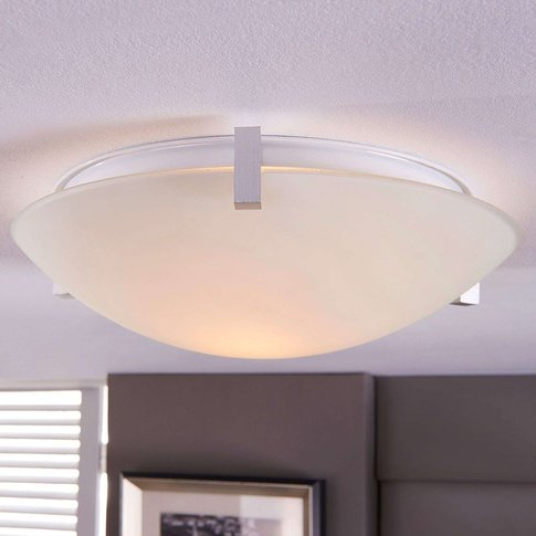 Fabrice Glass Ceiling Light With An E27 Led