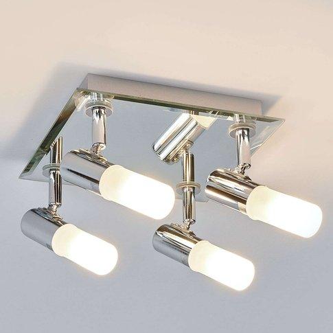 Angular Jilian Ceiling Lamp, 4-Bulb