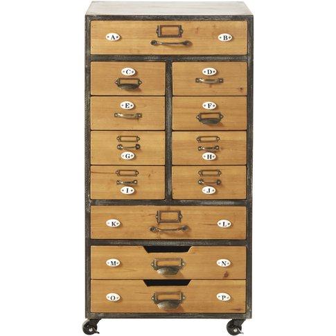 12-Drawer Storage Unit On Castors