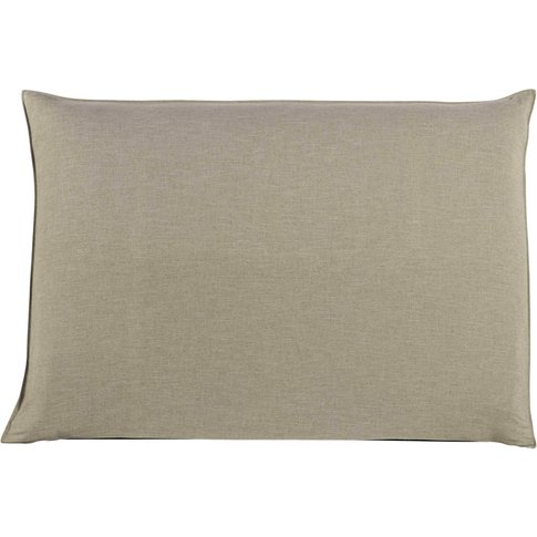 160cm Headboard Cover In Beige Soft