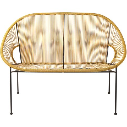 2/3-Seater Garden Bench in Mustard Yellow Resin and ...