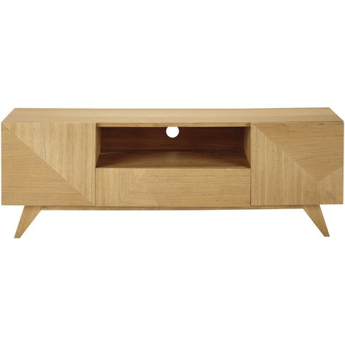 2-Door 1-Drawer Vintage TV Unit Origami