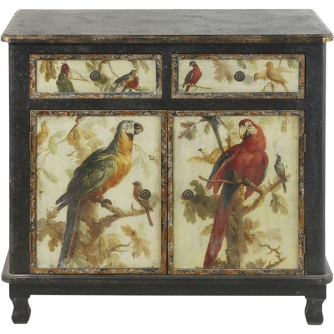 2-Door 2-Drawer Sideboard With Parrot Print Perroquet