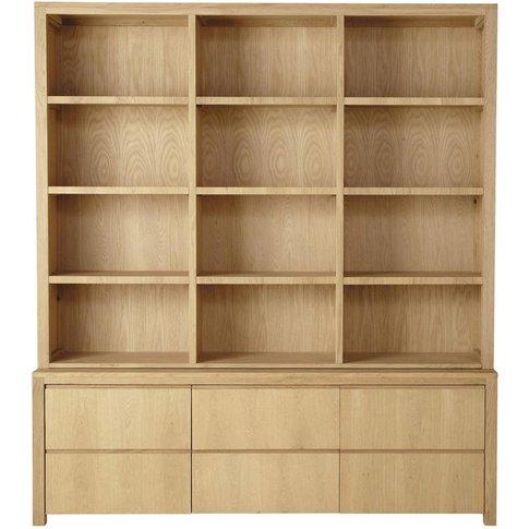 2-Drawer 2-Door Bookcase Danube