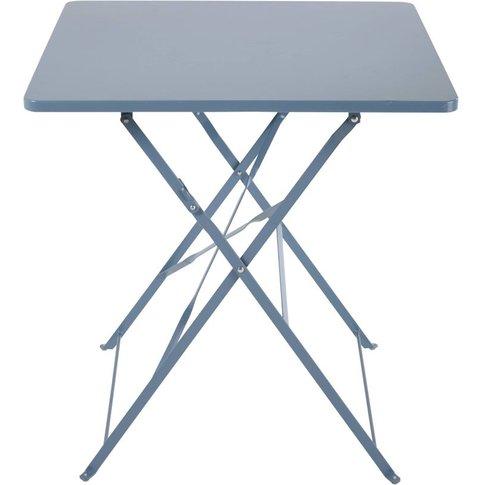 2-Seater Blue-Grey Metal Folding Garden Table W70 Gu...