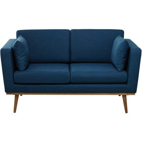 2 Seater Fabric Sofa in Petrol Blue Timeo