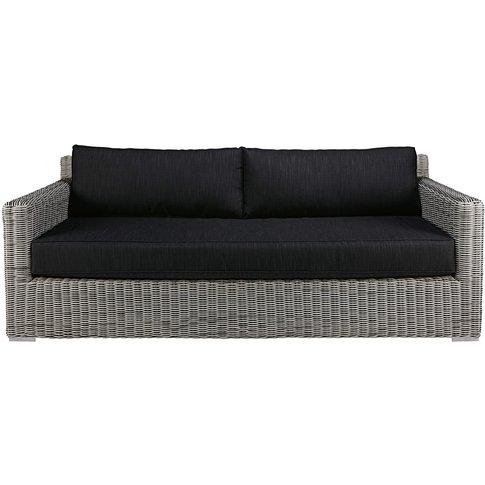 3/4-seater garden sofa in grey resin wicker Cape Town