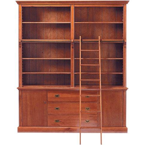 3-Drawer 2-Door Bookcase With Ladder Voyage