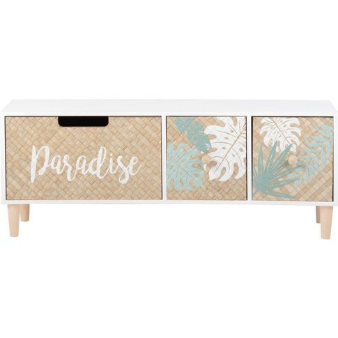 3-Drawer Storage Box With Tropical Print