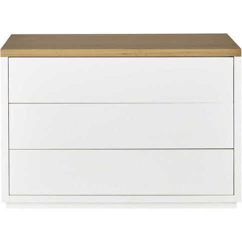 3-Drawer White Chest Of Drawers Austral