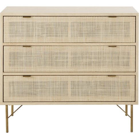 3-Drawer Woven Rattan Chest Of Drawers Solstice