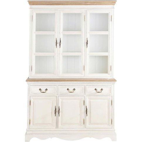 3 Drawers Cream China Cabinet Léontine