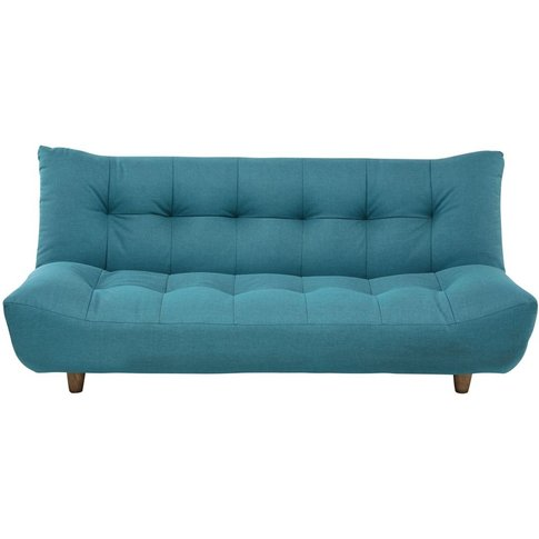 3-Seater Clic Clac Sofa Bed in Turquoise Blue Cloud