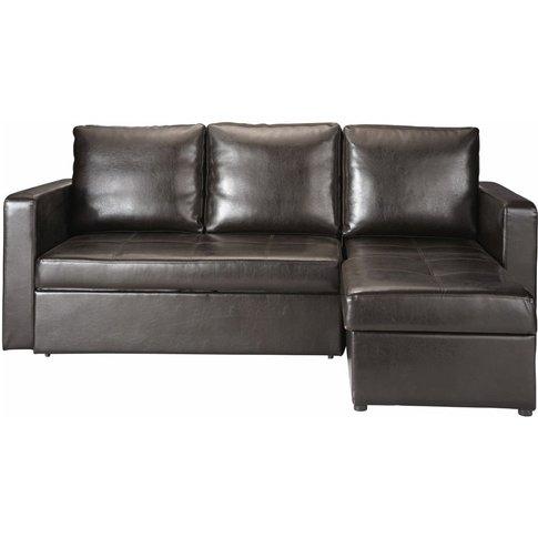 3 Seater Corner Sofa Bed In Brown Toronto
