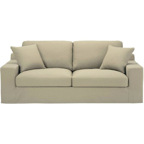 3 Seater Cotton Sofa Bed In Putty Stuart