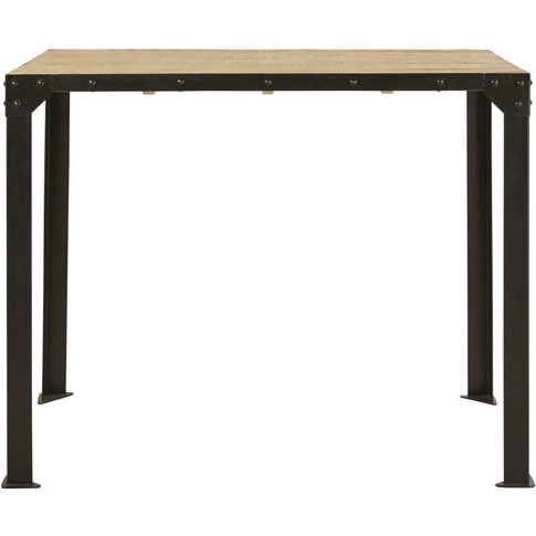 4-6 Seater Bar Dining Table In Metal And Solid Mango...