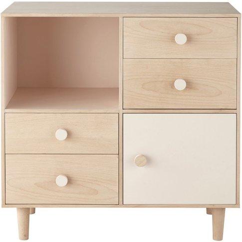 4-Drawer 1-Door Storage Cabinet Lou