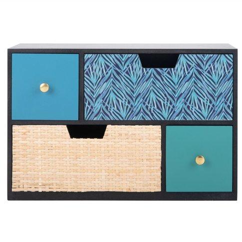 4-Drawer Storage Box With Print