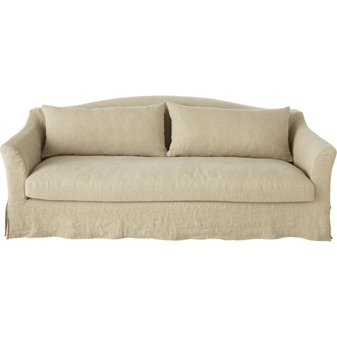 4-Seater Washed Linen Sofa Bed Anaelle